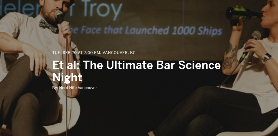 Et al: The Ultimate Bar Science Night